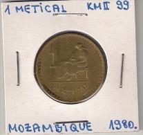 B9 MOZAMBIQUE  1 METICAL 1980. KM#99 - Mosambik