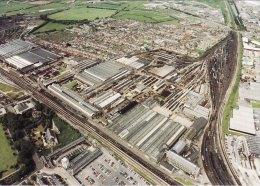 Railway Postcard STEAM Museum Aerial View Swindon Works - Opere D'Arte