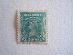 "Brazilie Bresil Brasilien Brasil 1906-15 Série Courante Têtes De ""liberté"" Blue-vert Yv 139a O - Brésil"