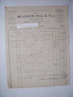 BRAZEY-EN-PLAINE (21): Facture 1883 Entrepreneur Et Tailleurs De Pierres - MOUSSON Pére & Fils - 1900 – 1949
