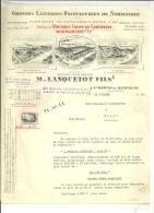 14 - Calvados - SAINT MARTIN DE BIENFAITE -  Facture LANQUETOT -  Laiterie - Fromagerie - 1952 - France