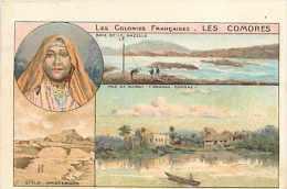 "Mai13 1561 : Les Comores  -  Baie De La Gazelle  -  Ile Amsterdam  -  Vue De Ichoui ""Grand Comore""  - Carte Petit Fot - Comores"