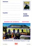 "POPULAR UNIVERSITY ""NICOLAE IORGA""- VALENII DE MUNTE, PC STATIONERY, ENTIERE POSTAUX, UNUSED, 1999, ROMANIA - Enteros Postales"