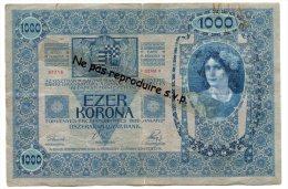 - Billet Autrichien De 1000 EZER KORONA, DEUTSCHOSTERREICH,  Série 1194, 1902, Marque De RouiIle, Bon état, Scans. - Austria