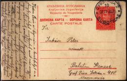 YUGOSLAVIA - JUGOSLAVIA  - POSTCARD INTERNATIONAL - Subotica To Hungary Balaton  - 1935 - RARE - Enteros Postales