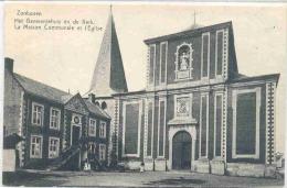 ZONHOVEN-HET GEMEENTEHUIS EN DE KERK-UITGEVERIJ DE GRAEVE-NO 11773-ANIMATIE-VERZONDEN-ZIE 3 SCANS! ! ! - Zonhoven