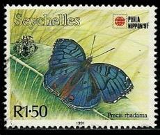Seychelles - Année 1991 - Papillon - Oblitéré - Seychelles (1976-...)
