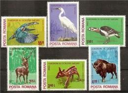 ROMANIA 1980 PROTECTED ANIMALS SC # 2942-2947 MNH - 1948-.... Republiken