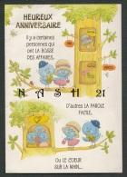 Carte Anniversaire - '' Piou Piou Sur Branches '' - 2 Volets - 135 Mm X 195 Mm - - Seasons & Holidays