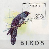 Vögel Naturschutz 1992 Tanzania Block 190 ** 7€ Vogelwelt Kuckuck Blocchi Bf WWF M/s Fauna Bloc Birds Sheet Of Tansania - Tanzania (1964-...)