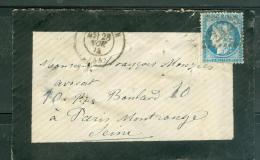 Yvert N°  60 Type 3 , Oblitéré Gc 2429     Lp26609 - Postmark Collection (Covers)