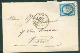 Yvert N°  60 Type 3 , Oblitéré Gc 2445 ( Montdidier )   En Janv 1875   Lp26610 - 1849-1876: Classic Period