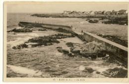 CP, 44, Batz, La Jetée, Voyagé - Batz-sur-Mer (Bourg De B.)