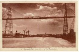 CP, 44, Nantes La Nuit, Le Pont Transbordeur, Voyagé En 1977 - Nantes