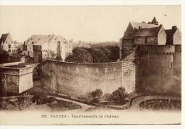 CP, 44, Nantes, Vue D'ensemble Du Château, Vierge - Nantes