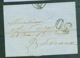 Taxe Tampon 30 Sur Lettre De Marseille Pour Bordeaux En Mars 1871   - Lp266122 - Postmark Collection (Covers)