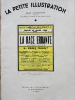 François Porché - La Race Errante - La Petite Illustration N° 581 - Théâtre N° 302 - 18 Juin 1932 - Bücher, Zeitschriften, Comics