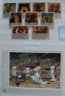 HISTOIRE DES JEUX OLYMPIQUES - Belle Collection Sur 73 Pages Dans 2 Classeurs à Bandes - Jeux Antiques - BLACK FRIDAY !! - Timbres