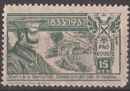 RQT5-LM085TO.Espagne.Spain.España.Escudo.pro Requetes.Zumalacarregui.1936/8.(Galvez 5**) En Nuevo. - Sonstige