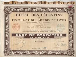 HOTEL DES CELESTINS . VICHY - Tourisme