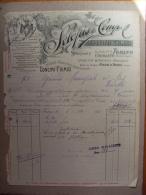 Fattura CONCIMI CHIMICI(Agricoltura). SCLOPIS E Comp. TORINO (Cogoleto, Spinetta Marengo) 1911 - Italia