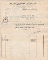 DECINES ( Près De Lyon )   Facture 1950  Société Lyonnaise De Textiles   - JV26 - Textile & Vestimentaire