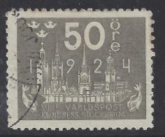 SUEDE - 1924 - N° 172 - OBLITERE - TB - - Gebraucht