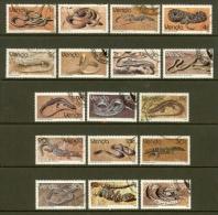VENDA 1986 Used Stamp(s) Reptiles 120-136 - Snakes