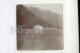Glion 2 Photos De 1899 Suisse - Chateau De Chillon - Photographie Originale  - Commune De Montreux - Lieux