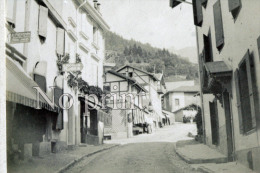 Glion Photo De 1899  - Suisse - Petite Rue Animée & Commerces  - Photographie Originale  - Commune De Montreux - Places