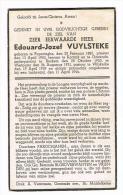 POPERINGE - OOSTENDE - REKKEM - WESTOUTER - WILSKERKE   ,doodsprentje Van Pastoor Edouard VUYLSTEKE  + 1944 - Historical Documents
