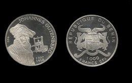 BENIN . JOHANNES GUTENBERG .  1000 FRANCS CFA . 1999 . - Benin