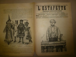 1896  L´ESTAFETTE :Travestissements;Waldeck-Rousseau;Le Tramway Tubulaire Du Bois De Vincennes Au Bois De Boulogne (Grav - Newspapers