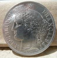 PIECE DE 5 FRANCS CERES EN ARGENT DE 1851 TYPE A TRES BELLE PIECE - J. 5 Francos