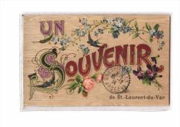 06 ST LAURENT DU VAR Fantaisie, Souvenir, Fleurs, Hirondelle, Ed Sauvaigo, 1914 - Saint-Laurent-du-Var