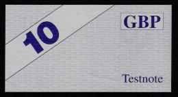 """Test Note """"HESS"""" Testnote, 10 GBP, Beids. Druck, RRR, UNC - Ver. Königreich"""