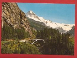 YHER-60 Val D' Hérens Avec La Dent Blanche, Pont Sur La Route D'Evolène. Non Circulé.  Danzi 1006 - VS Valais