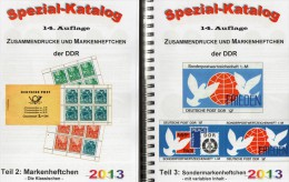 DDR Katalog Teil 2+3 Markenheftchen/SMH 2013 Neu 50€ RICHTER Heftchen Abarten Booklet+error Special Catalogue Of Germany - Néerlandais