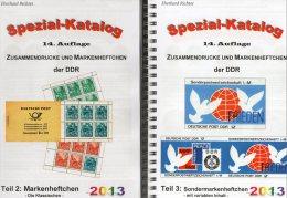 DDR Katalog Teil 2+3 Markenheftchen/SMH 2013 Neu 50€ RICHTER Heftchen Abarten Booklet+error Special Catalogue Of Germany - Libros