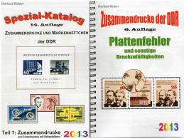 DDR Teil 1+4 RICHTER Katalog ZD+ Plattenfehler 2013 Neu 50€ Abart/se-tenant And Blocs Error Special Catalogue Of Germany - Boeken