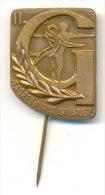 Pin - Sport - Gymnastics - Gymnastics Championship - Zagreb 1957. (without Enamel) - Militari
