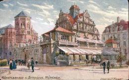 TUCK -- #7635 -- Munich -- Kunstlerhaus & Synagoge Munchen Postcard B137 - Tuck, Raphael