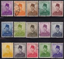 1521. Indonesia, 1951/1953, Achmed Sukarno, Used - Indonésie