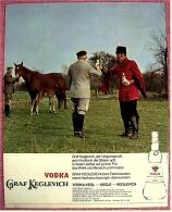Reklame Werbeanzeige Von 1965 -  Vodka Graf Keglevich  -  Dient Feierstunden, Wenn Nachwuchssorgen überwunden - Alkohol
