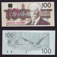 (Replica)China BOC (bank Of China) Training/test Banknote,Canada Dollars B-3 Series $100 Note Specimen Overprint - Canada