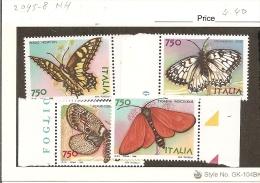 Italy. Scott # 2095-98 MNH. Butterflies. 1996 - 6. 1946-.. Republic