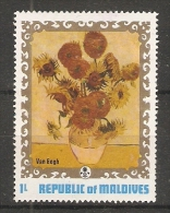 Maldives  1973  Floral Paintings: Van Gogh  2L  (**) MNH - Maldiven (1965-...)