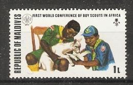 Maldives  1973  Scouts Congress  1L  (**) MNH - Maldiven (1965-...)