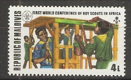 Maldives  1973  Scouts Congress  4L  (**) MNH - Maldives (1965-...)