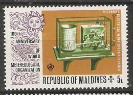 Maldives  1974  Centenary Of W.M.O.  5L  (**) MNH - Maldives (1965-...)